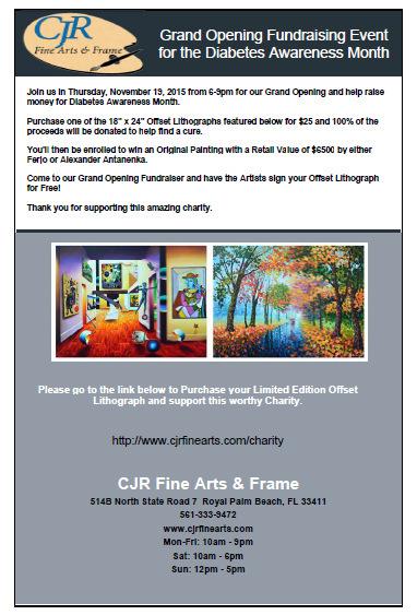 CJR Fine Arts Event Supports National Diabetes Association