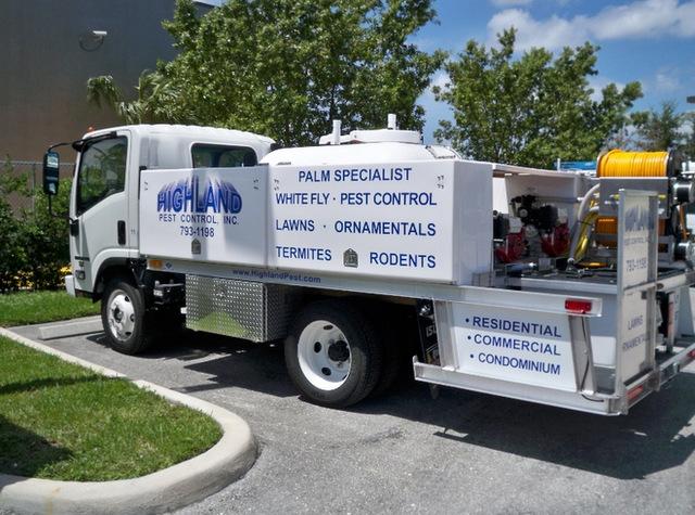 Fleet vehicle lettering South Florida
