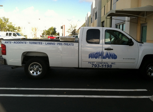 Fleet truck lettering South Florida