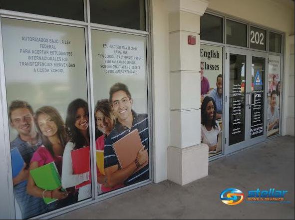 vinyl window wraps for schools in Palm Beach County FL, vinyl window wraps in Palm Beach County FL