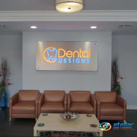 Dental Designs Rebrands With 3d Illuminated Lobby Sign In