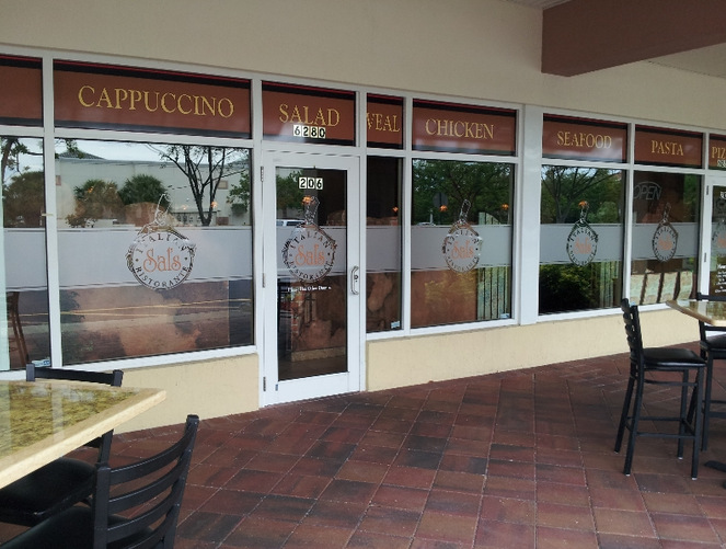 Etched vinyl window graphics for restaurants in palm beach county stellar signs amp graphics