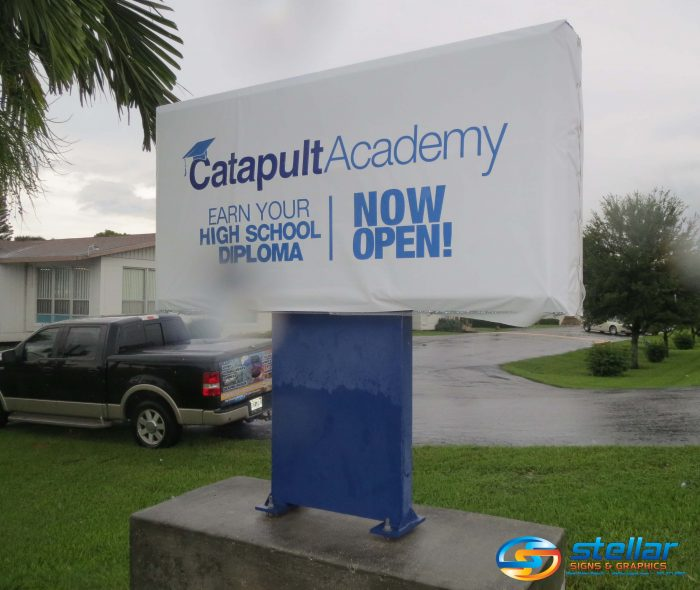Catapult Academy Announces Opening With Temporary Vinyl